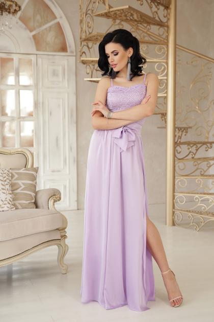 шелковое платье в пол. платье Эшли б/р. Цвет: лавандовый