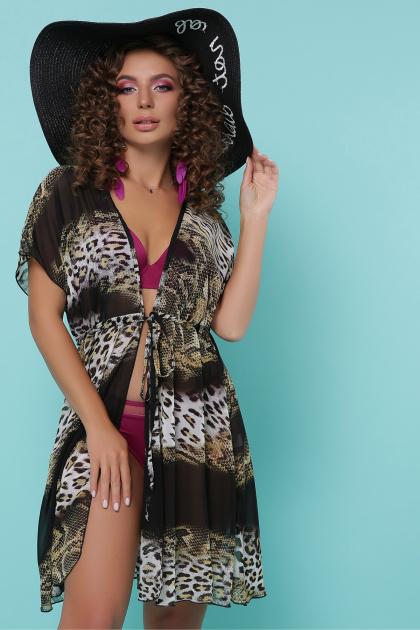 . Туника №1. Колір: питон леопард черный