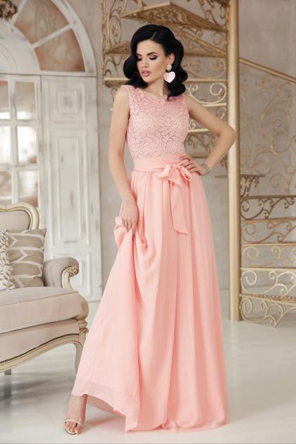 длинное персиковое платье. платье Анисья б/р. Цвет: персик
