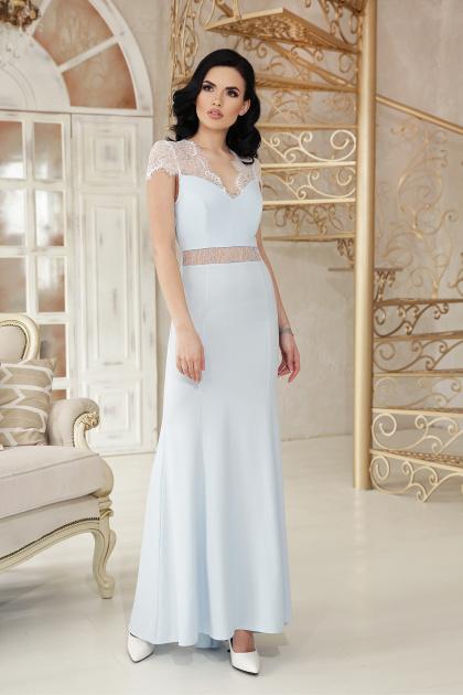 голубое вечернее платье. платье Алана к/р. Цвет: голубой