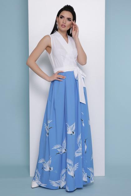 . голубой Аисты платье Асия б/р. Цвет: белый