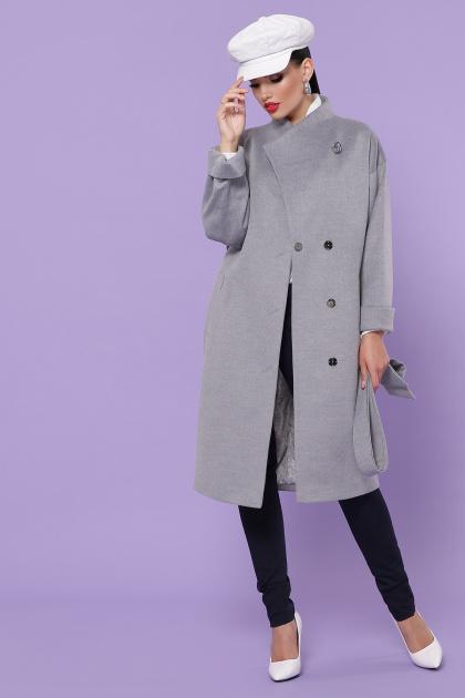серое кашемировое пальто. Пальто П-366-100. Цвет: серый