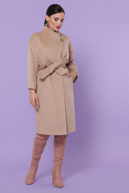 серое кашемировое пальто. Пальто П-366-100. Цвет: бежевый