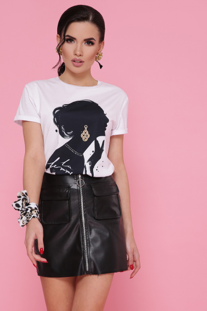 белая футболка со стразами. Jewelry women футболка Boy-2 А. Цвет: белый