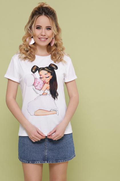 белая футболка с принтом. Ариадна футболка Boy-2. Цвет: белый