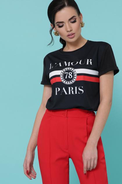 черная футболка с надписями. Lamour футболка Boy-2. Цвет: черный