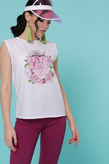 красивая футболка с цветами. Парфюм Цветы Футболка Киви б/р. Цвет: белый