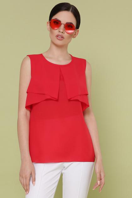 красная блузка без рукавов. блуза Юлия к/р. Цвет: красный