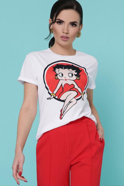 белая футболка с модным рисунком. Betty Boom футболка Boy-2. Цвет: белый