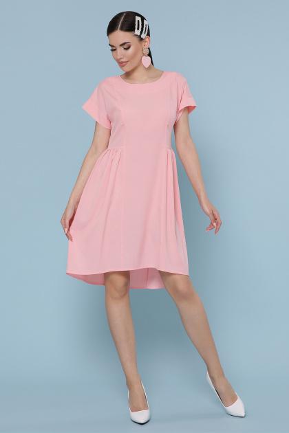 оливковое платье с коротким рукавом. платье Вилена к/р. Цвет: персик
