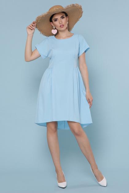 оливковое платье с коротким рукавом. Платье Вилена к/р. Цвет: голубой