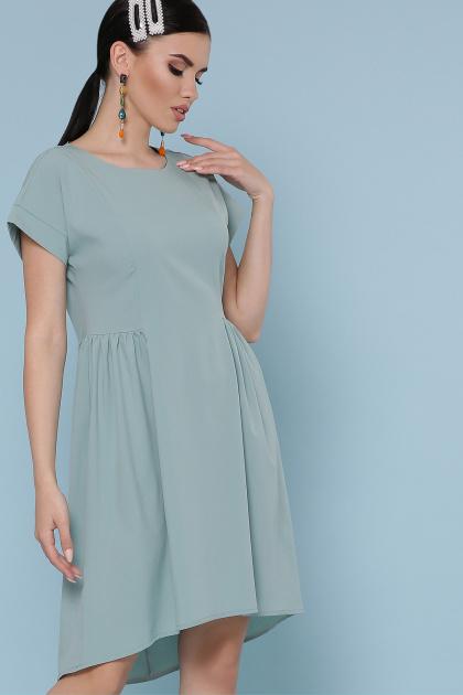 оливковое платье с коротким рукавом. платье Вилена к/р. Цвет: оливковый