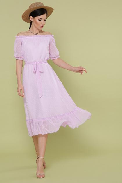 шифоновое лавандовое платье. платье Устинья  к/р. Цвет: лавандовый