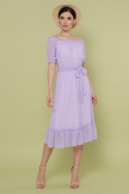 шифоновое лавандовое платье. платье Устинья  к/р. Цвет: сирень