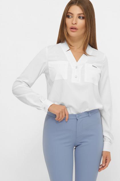 бордовая блузка с длинным рукавом. блуза Жанна д/р. Цвет: белый