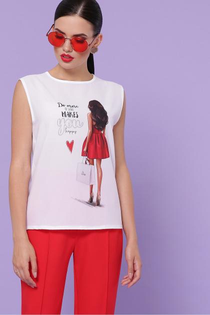 модная футболка без рукавов. Red dress футболка Киви б/р. Цвет: белый