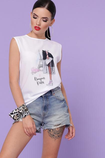 летняя футболка без рукавов. Bonjour футболка Киви б/р. Цвет: белый