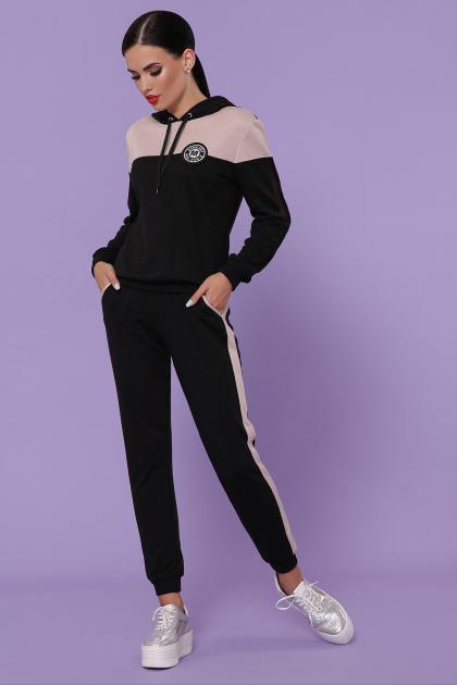 черный костюм для отдыха. Костюм Банни. Цвет: черный-пудра