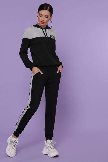 черный костюм для отдыха. Костюм Банни. Цвет: черный-серый