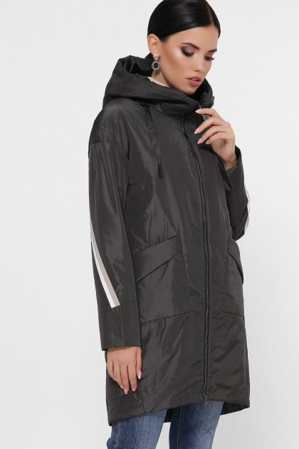 демисезонная серая куртка. Куртка 52. Цвет: графит