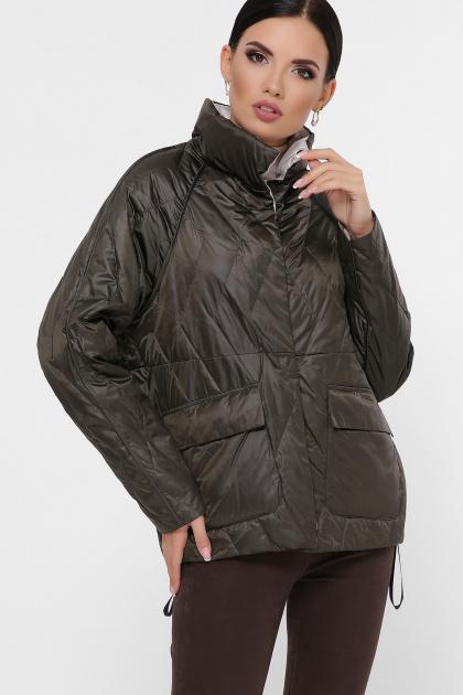 демисезонная черная куртка. Куртка 991. Цвет: серо-зелёный