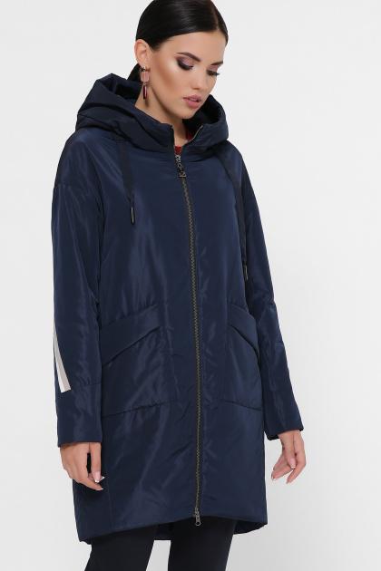 демисезонная серая куртка. Куртка 52. Цвет: т.синий