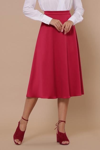 черная атласная юбка. юбка мод. №38. Цвет: фуксия