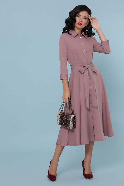 офисное платье цвета хаки. платье Ефимия д/р. Цвет: лиловый