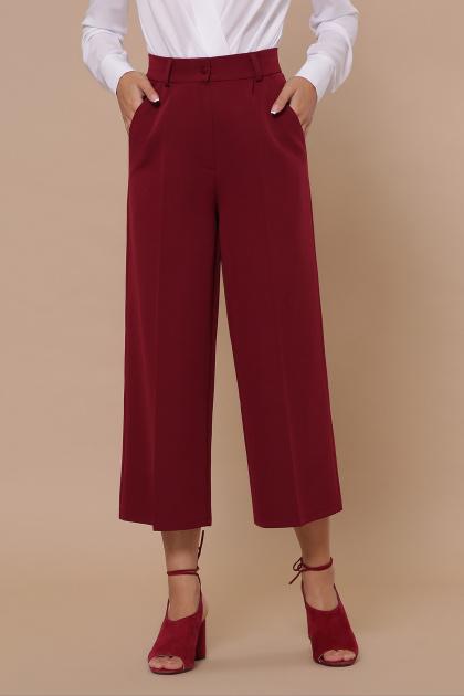 модные синие кюлоты. брюки-кюлоты Эби. Цвет: бордо