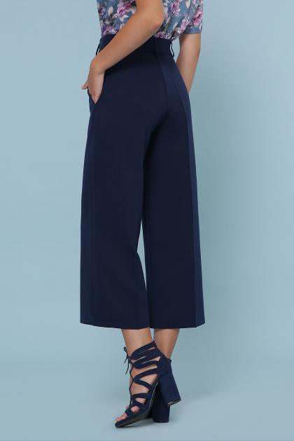 модные синие кюлоты. брюки-кюлоты Эби. Цвет: синий