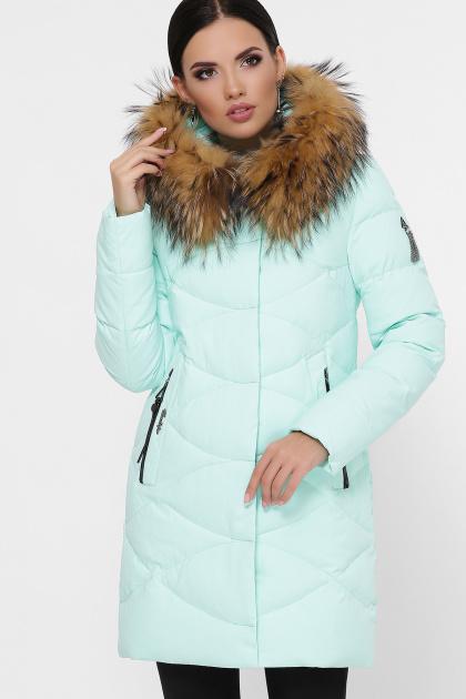 зимняя мятная куртка. Куртка 18-121. Цвет: 8-мята