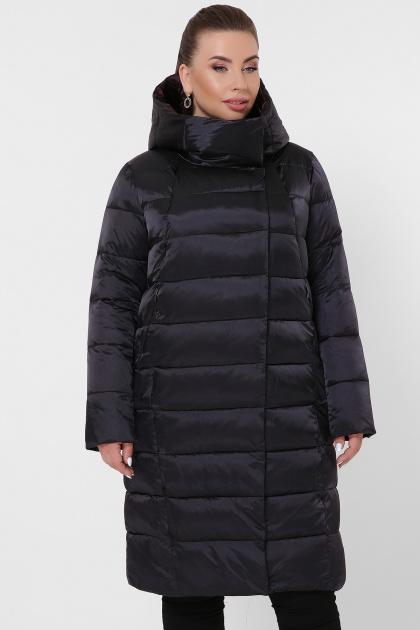 изумрудная куртка для полных. Куртка 19-39-Б. Цвет: 02-черный