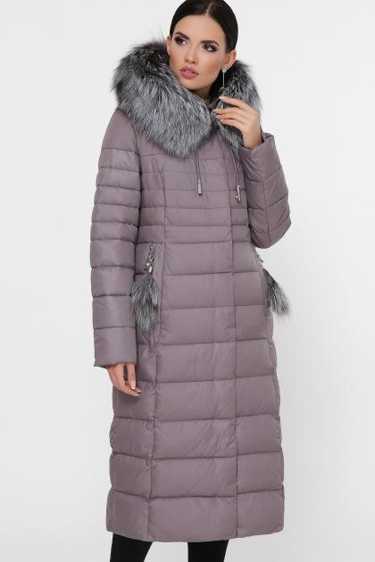 длинная куртка на зиму. Куртка 1801. Цвет: 7-капучино