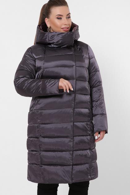изумрудная куртка для полных. Куртка 19-39-Б. Цвет: 29-графит