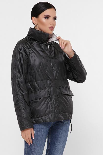 демисезонная черная куртка. Куртка 991. Цвет: черный