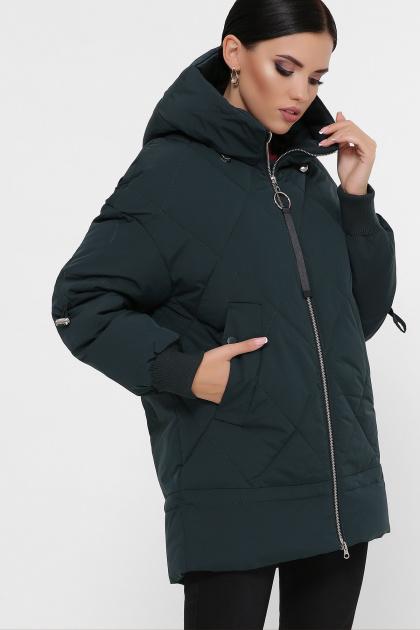 темно-зеленая зимняя куртка. Куртка М-93. Цвет: 13-т.зеленый