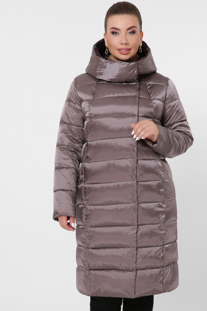 изумрудная куртка для полных. Куртка 19-39-Б. Цвет: 30-капучино