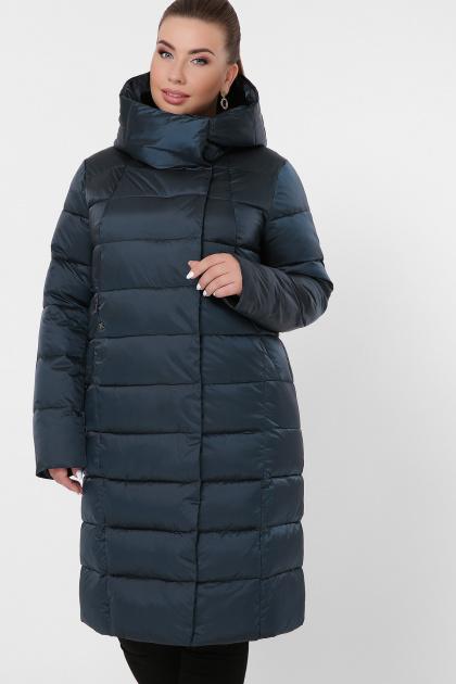 изумрудная куртка для полных. Куртка 19-39-Б. Цвет: 03-изумруд