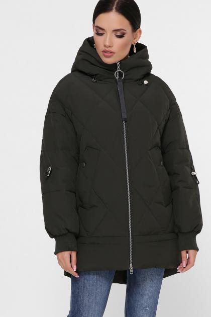 темно-зеленая зимняя куртка. Куртка М-93. Цвет: 16-т.хаки
