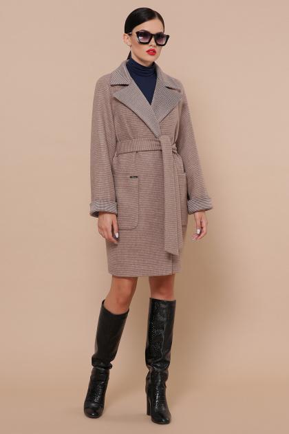двубортное темно-серое пальто. Пальто П-347-М-90. Цвет: 1-коричневый