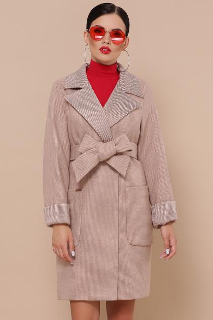 двубортное темно-серое пальто. Пальто П-347-М-90. Цвет: 2-песочный