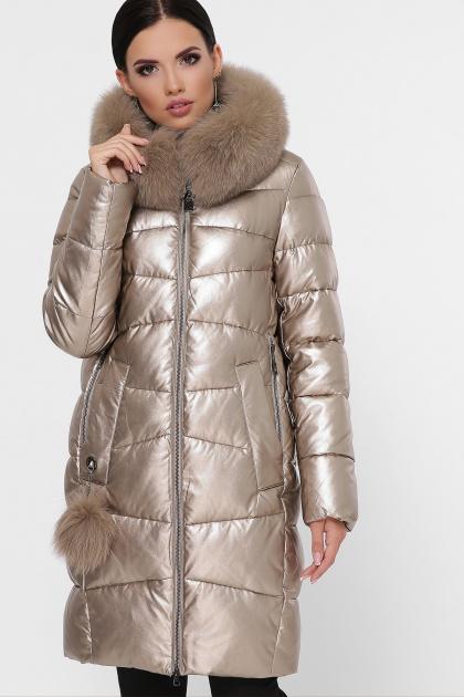 золотистая куртка на зиму. Куртка М-18-138. Цвет: 21-золото