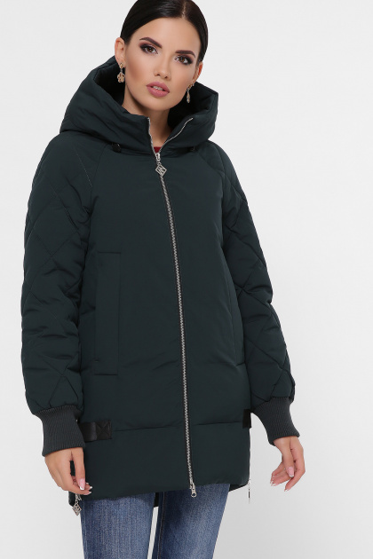 синяя зимняя куртка. Куртка М-101. Цвет: 13-изумруд
