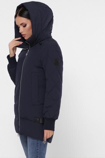 синяя зимняя куртка. Куртка М-101. Цвет: 14-синий