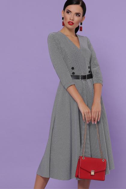 . платье Киана д/р. Цвет: лапка м.черная