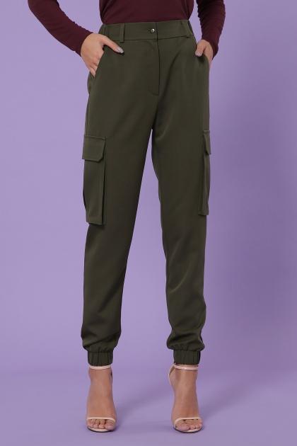 брюки карго цвета хаки. брюки-карго Стеф. Цвет: хаки