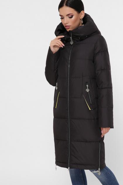 темно-синяя куртка на зиму. Куртка М-109. Цвет: 01-черный