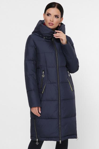 темно-синяя куртка на зиму. Куртка М-109. Цвет: 14-т.синий