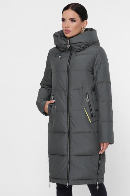 темно-синяя куртка на зиму. Куртка М-109. Цвет: 17-хаки
