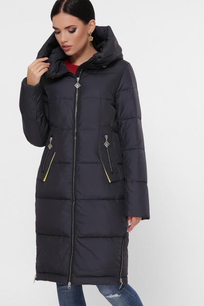 темно-синяя куртка на зиму. Куртка М-109. Цвет: 28-графит